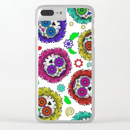 Sugar Skulls, Day Of The Dead, Skull Pattern Clear iPhone Case