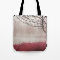 fog Tote Bags featuring Fog by KunstFabrik_StaticMovement Manu Jobst