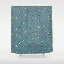 Cake Pop Parade - Blue Shower Curtain