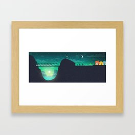 Nightcall Illustration Framed Art Print