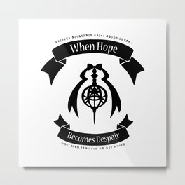 "Madoka Magica - ""When Hope Becomes Despair"" Ver.1 Metal Print"