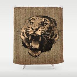 Vintage Tiger Shower Curtain