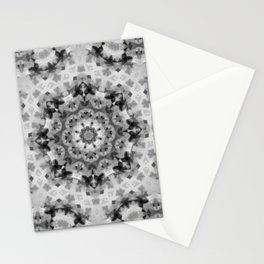 Black and white Persian carpet 1 Stationery Cards