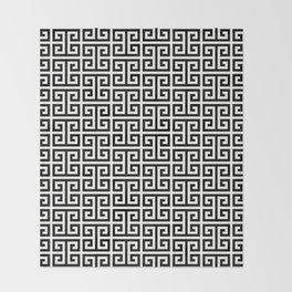 Black and White Greek Key Pattern Throw Blanket