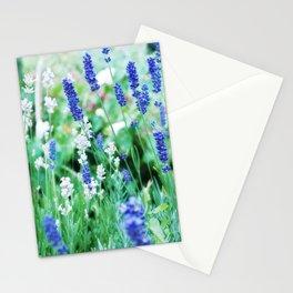 White & Blue Lavender Dream #1 #art #society6 Stationery Cards