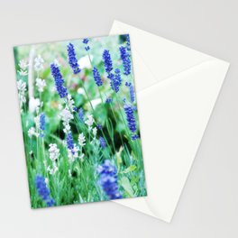 White & Blue Lavender Dream #1 #art #society6 Stationery Cards