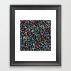 water color garden at nigth Framed Art Print