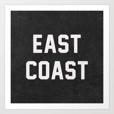 East Coast - black Art Print