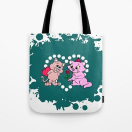 cats couple gift for valentine day Tote Bag