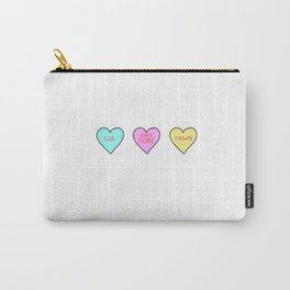 Conversation Hearts Carry-All Pouch