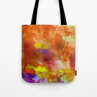 rose gold Tote Bags featuring Rose Gold  by ariesmoon