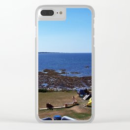 Sea View from the Watchtower Clear iPhone Case