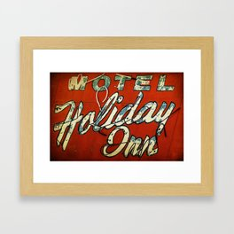 Motel Holiday Inn Route 66 Framed Art Print