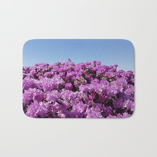 """View of """"Mount Rhodendron"""" on a clear day Bath Mat"""