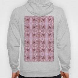 Pastel Old Rose Flower Pattern Hoody