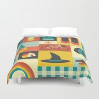 oz Duvet Covers featuring Oz by Ariel Wilson