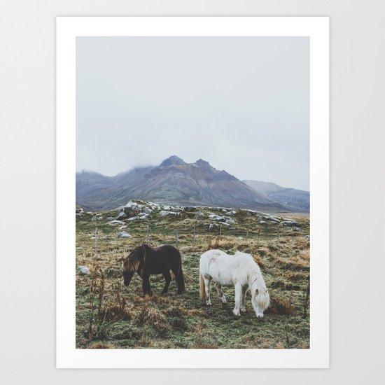 Iceland X Art Print