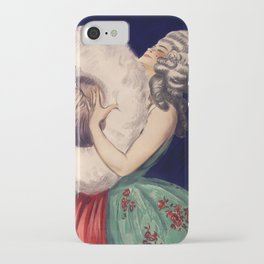Lady in a wig with Giant Puff iPhone Case