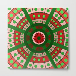 Complimentary & Symmetry - Red and Green Metal Print