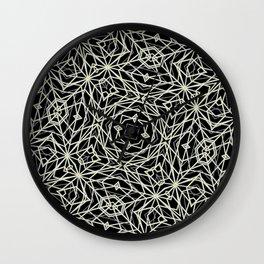 Polygons Pattern Print Wall Clock