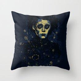 Scarry Night Throw Pillow