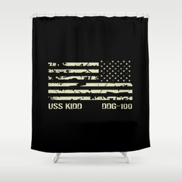 USS Kidd Shower Curtain