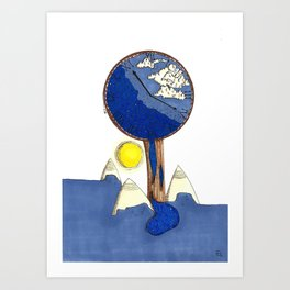 Time of world Art Print