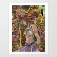 Dreams Bloom in the Night Art Print