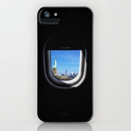 Manhattan and Statue of Liberty from my Seat iPhone Case