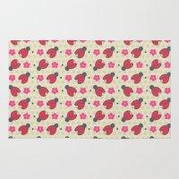 ladybug Area & Throw Rugs featuring Ladybug by Louise Machado