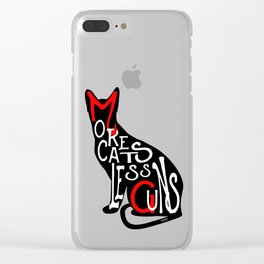 More Cats Less Guns™ Clear iPhone Case