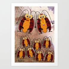 Cockroaches Art Print