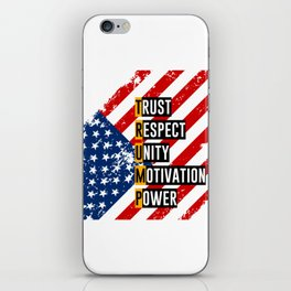Re-Elect Trump for President. Keep America Great! Light iPhone Skin