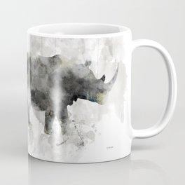 Rhino and Calf Coffee Mug
