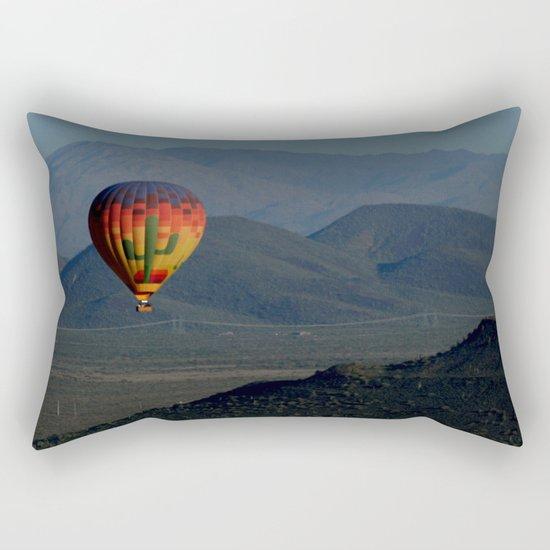 Hot Air Balloon over Arizona Morning Rectangular Pillow