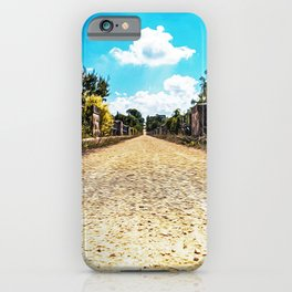 Bicycle trail in Valle d'Itria near Cisternino, Locorotondo and Martina Franca iPhone Case