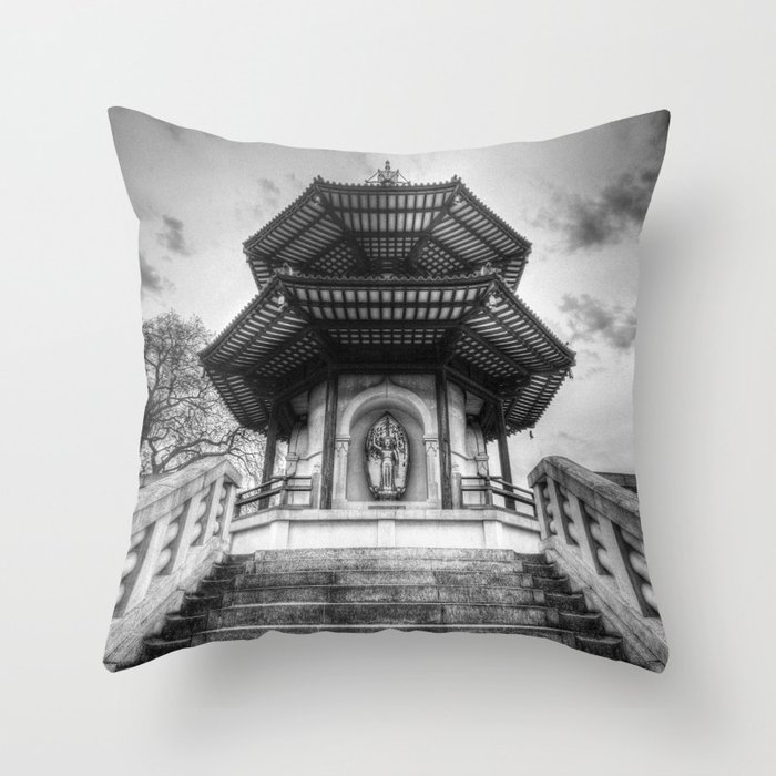 The Pagoda Battersea Park London Throw Pillow