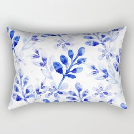 Watercolor Floral VVII Rectangular Pillow