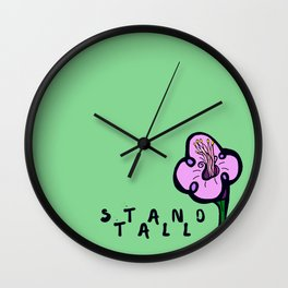 Stand Tall Wall Clock