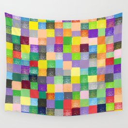 Pixelated Patchwork Wall Tapestry