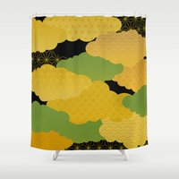 japan Shower Curtains featuring JAPAN by rie_lalala
