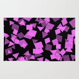 Pink Confetti Pops on Black Rug