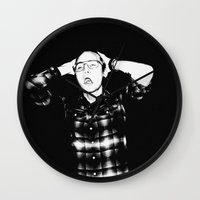 zombies Wall Clocks featuring Zombies by Late Nite Draw