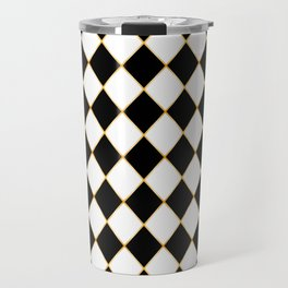 Chess board with golden threads Travel Mug