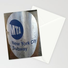 NYC MTA Trash Can Stationery Cards