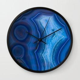Deep Blue Lagoon Agate Wall Clock