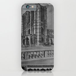 retro classic Noyon poster iPhone Case