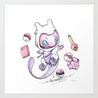 projectrocket Art Prints featuring Pokéssentials by Randy C