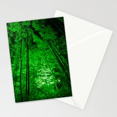 Electric Forest Green Stationery Cards