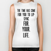 lip Biker Tanks featuring Lip-Sync by #MadeByTylord